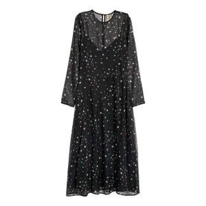 H&M multi color star print dress, sold out online!